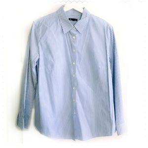 ❣️2 for 30   Gap blue stripe shirt, SIze XLP